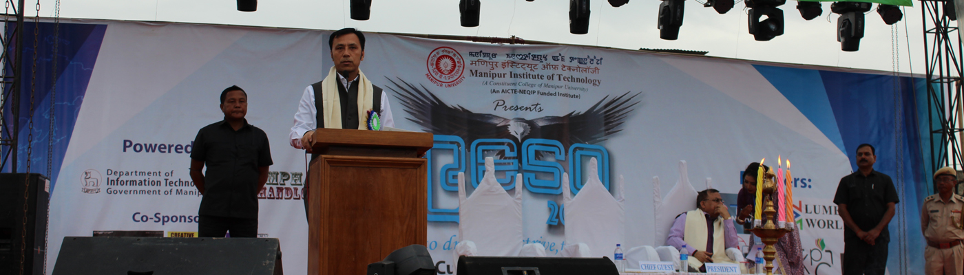 Speech by Chief Guest of the Inaugural  function of RESO 2017, Shri Thokchom Radheshyam Singh, Hon'ble Cabinet Ministers (Education, Labour and Employment)